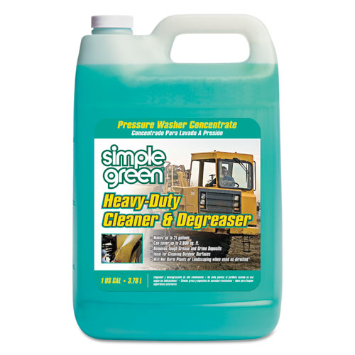 Simple Green® Heavy-Duty Cleaner & Degreaser Pressure Washer Concentrate, 1 gal Bottle, 4/CT