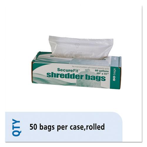 8105015574982, Heavy-Duty Shredder Bags, 60 gal Capacity, 50/BX