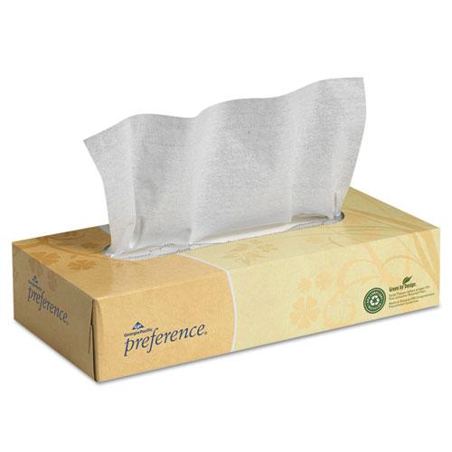 Facial Tissue, 2-Ply, White, Flat Box, 100 Sheets/Box, 30 Boxes/Carton
