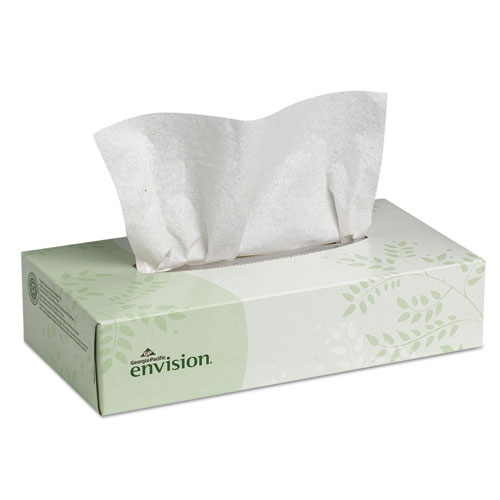 Facial Tissue, 2-Ply, White, 100 Sheets/Box, 30 Boxes/Carton