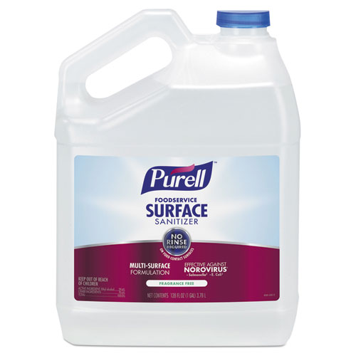 PURELL® Foodservice Surface Sanitizer, Fragrance Free, 128 oz Bottle, 4/Carton