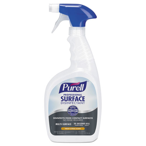 PURELL® Professional Surface Disinfectant, Fresh Citrus, 32 oz Spray Bottle, 3/Carton