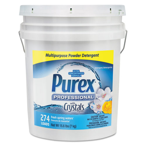 Purex® Dry Detergent, Fresh Spring Waters, Powder, 15.6 lb. Pail g Waters