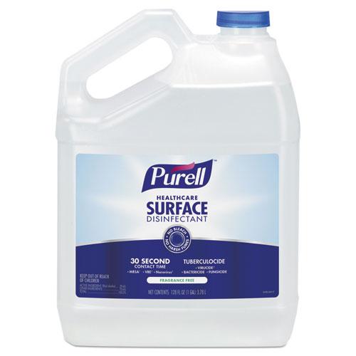 Healthcare Surface Disinfectant, Fragrance Free, 128 oz Bottle, 4/Carton