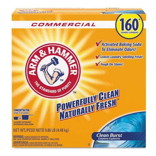 Arm & Hammer™ Powder Laundry Detergent, Clean Burst, 9.86 lb, Box, 3/Carton