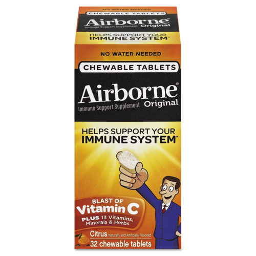 Airborne® Immune Support Chewable Tablet, Berry, 64 Count