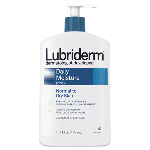 Lubriderm® Skin Therapy Hand and Body Lotion, 16 oz Pump Bottle, 12/Carton