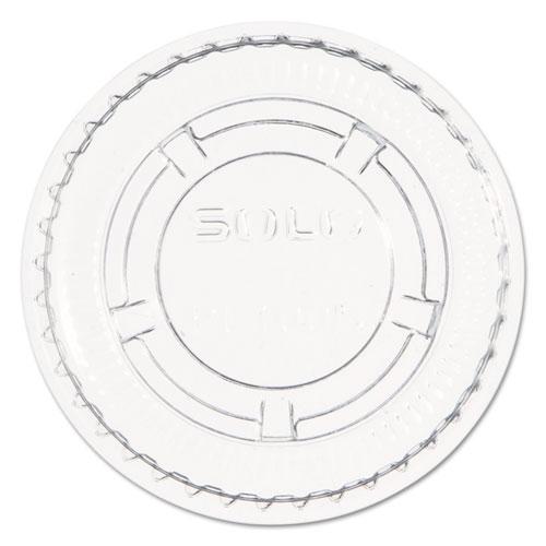 Portion/Souffl Cup Lids, Fits 0.5-1 oz Cups, PET, Clear, 2,500/Carton