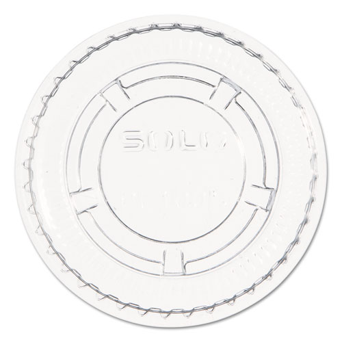 Dart® Portion/Soufflé Cup Lids, Fits 0.5 oz to 1 oz Cups, PET, Clear, 125 Pack, 20 Packs/Carton