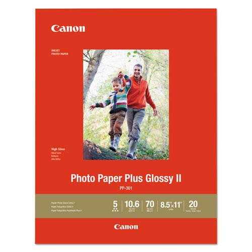 Photo Paper Plus Glossy II, 8.5 x 11, Glossy White, 20/Pack