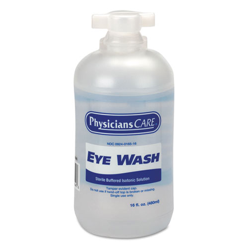 Eyewash, 16 oz Bottle, 12/Carton