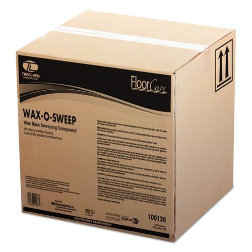 Theochem Laboratories Wax-Based Sweeping Compound, Grit-Free, 50lbs, Box