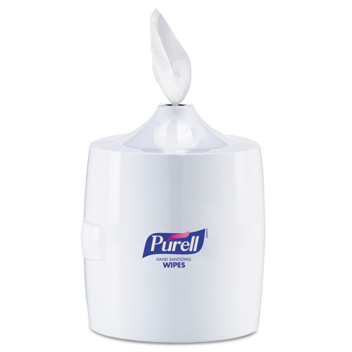 Hand Sanitizer Wipes Wall Mount Dispenser, 1200/1500 Wipe Capacity, White | by Plexsupply