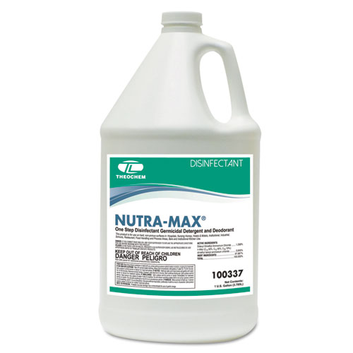 Theochem Laboratories NUTRA-MAX Disinfectant Cleaner/Deodorizer, 1gal Bottle, 4/Carton