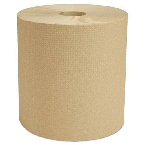 Select Hardwound Roll Towels, Natural, 7 7/8 x 800 ft, 6/Carton