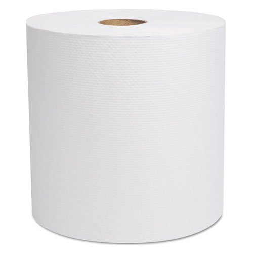 Select Hardwound Roll Towels, White, 7 7/8 x 800 ft, 6/Carton