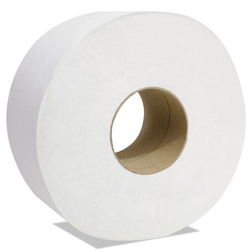 "Decor Jumbo Roll Jr. Tissue, 1-Ply, White, 3 1/2"" x 1500', 12 Rolls/Carton"
