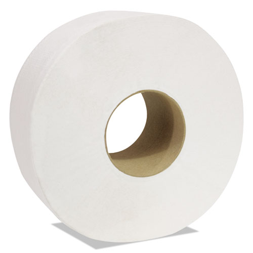 Decor Jumbo Roll Jr. Tissue, 2-Ply, White, 3 1/2 x 750 ft, 12 Rolls/Carton
