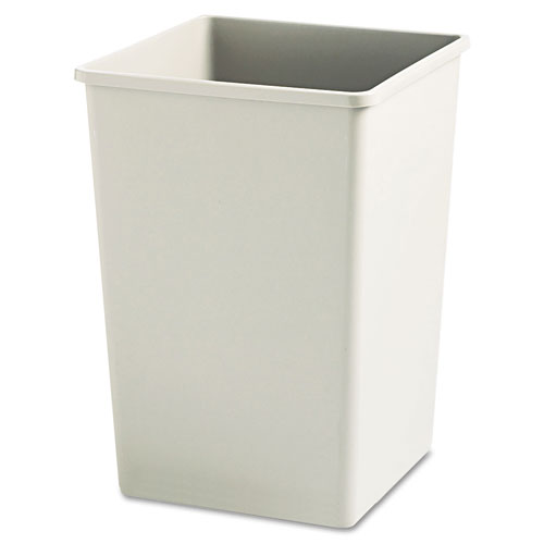 Rubbermaid® Commercial Plaza Waste Container Rigid Liner, Square, Plastic, 35gal, Beige