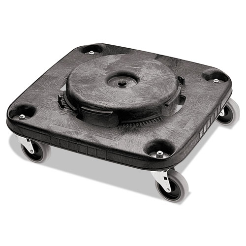 Brute Container Square Dolly, 250 lb Capacity, 17.25 x 6.25, Black | by Plexsupply