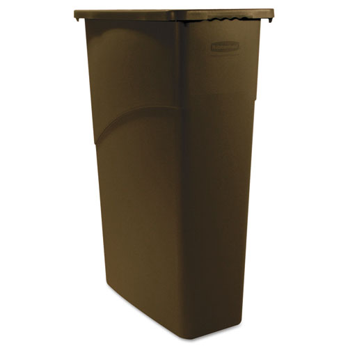 Rubbermaid® Commercial Slim Jim Waste Receptacle, Rectangular, Plastic, 23gal