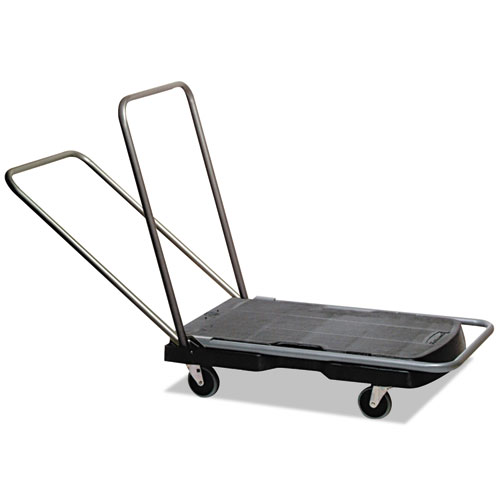Utility-Duty Home/Office Cart, 250 lb Capacity, 20.5 x 32.5, Platform, Black | by Plexsupply