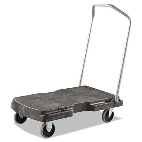 Rubbermaid® Commercial Triple Trolley, 500-lb Capacity, 20.5w x 32.5d x 7h, Black
