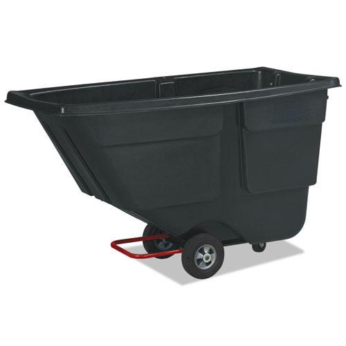 Rubbermaid® Commercial Rotomolded Tilt Truck, Rectangular, Plastic, 600lb Cap, Black