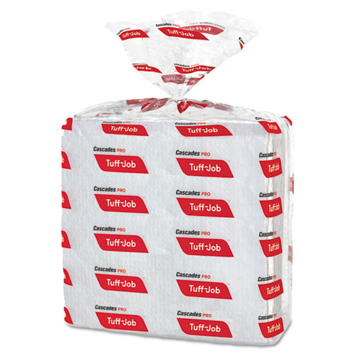 Cascades PRO Tuff-Job S300 Airlaid Wipers, 12 x 13, White, 50/Pack, 16/Carton
