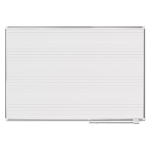 Ruled Planning Board, 72 x 48, White/Silver | by Plexsupply