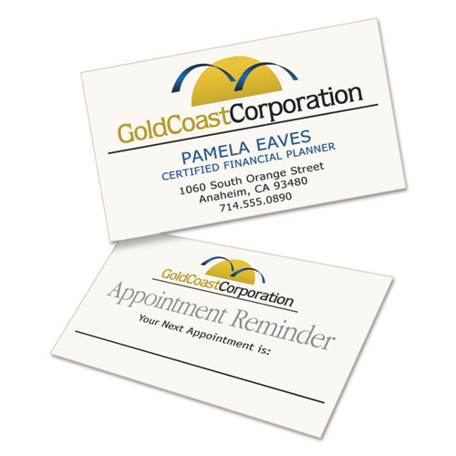 Clean edge business cards laser 2 x 3 12 ivory 200pack 1750pk quantity colourmoves