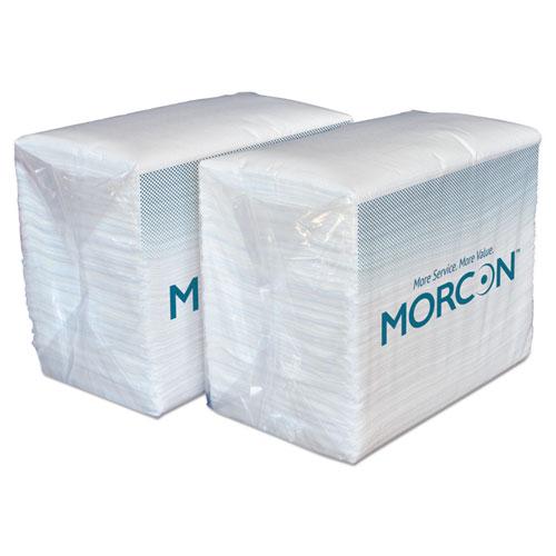 Morcon Paper Dinner Napkins, 2-Ply, White, 14 1/2 x 16 1/2, 3000/Carton