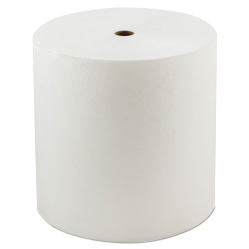 "Morcon Paper Hardwound Roll Towels, 1-Ply, 8"" x 800 ft, White, 6/Carton"