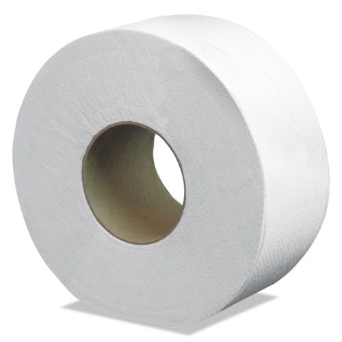 Select Jumbo Bath Tissue, Septic Safe, 2-Ply, White, 3.3 x 500 ft, 12 Rolls/Carton