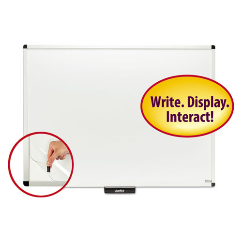 Justick by Smead Dry-Erase Board with Frame, 48 x 36, White