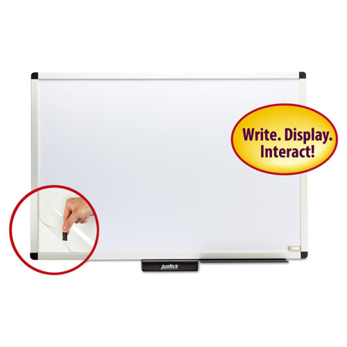 Justick by Smead Dry-Erase Board with Frame, 36 x 24, White
