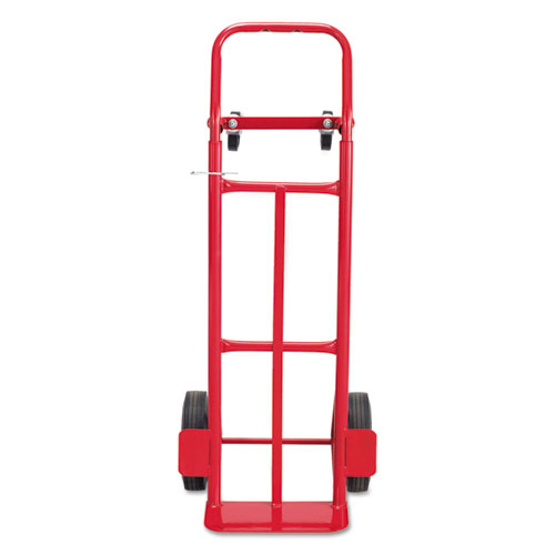 Two-Way Convertible Hand Truck, 500-600 lb Capacity, 18w x 51h, Red | by Plexsupply