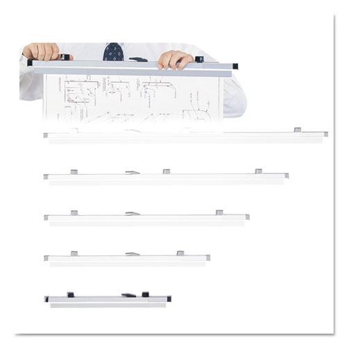 Sheet File Hanging Clamps, 100 Sheets Per Clamp, 19.75w, 6/Carton