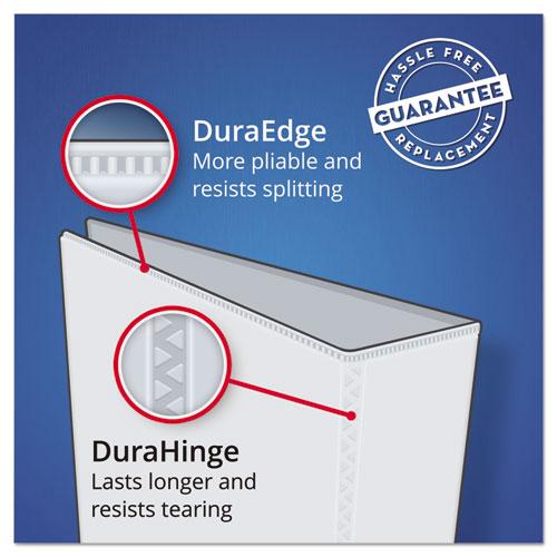 "Durable View Binder with DuraHinge and Slant Rings, 3 Rings, 1"" Capacity, 11 x 8.5, Black"