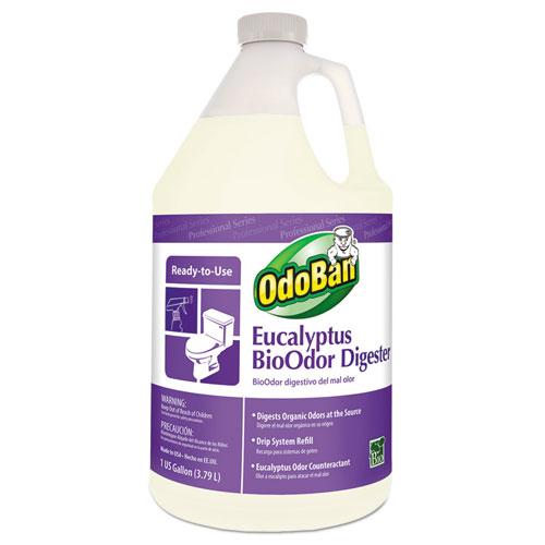 BioOdor Digester, Eucalyptus Scent, 1 gal Bottle, 4/Carton