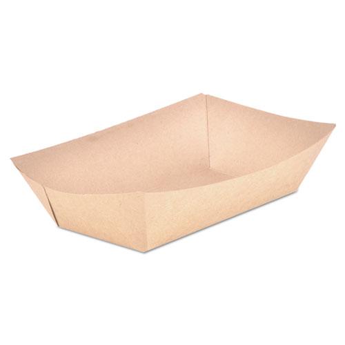 Food Trays, Paperboard, Brown Kraft, 5-Lb Capacity, 500/Carton