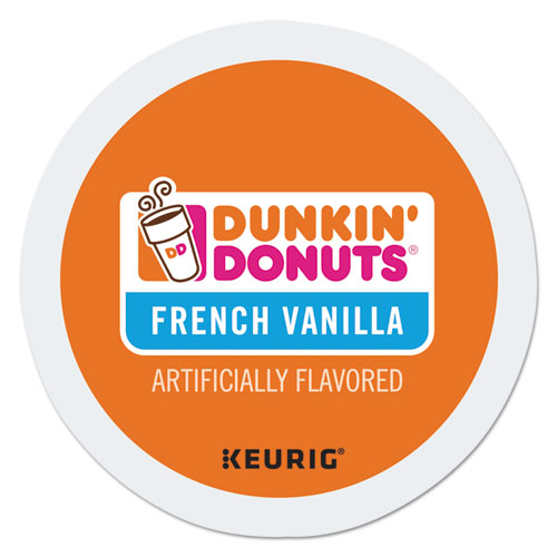 Dunkin Donuts® K-Cup Pods, French Vanilla, 24/Box