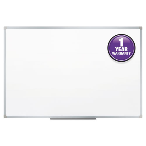 Dry-Erase Board, Melamine Surface, 48 x 36, Silver Aluminum Frame ...