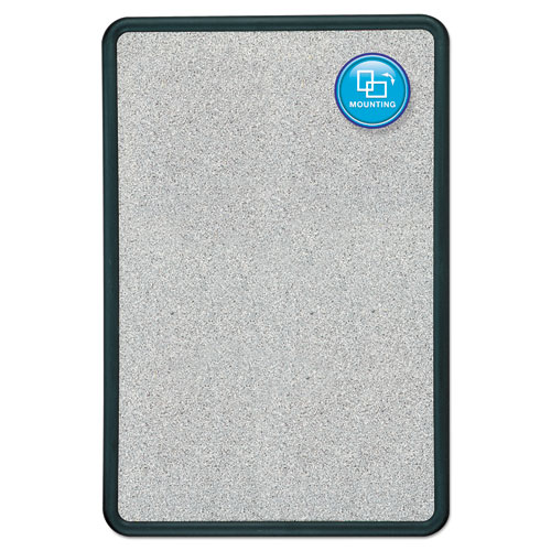 Qrt699370 Quartet 174 Contour Granite Gray Tack Board Zuma