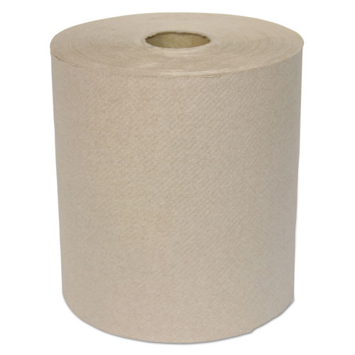 Hardwound Roll Towels, 1-Ply, Kraft, 8 x 700 ft, 6/Carton