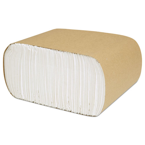 Select Low Fold Dispenser Napkins, 1-Ply, 3.5 x 5, White, 250/Pack, 8000/Carton