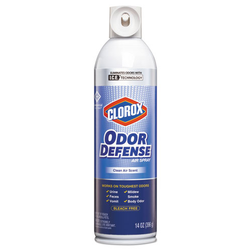 Clorox® Commercial Solutions Odor Defense, Clean Air,14oz Aerosol,12/Carton