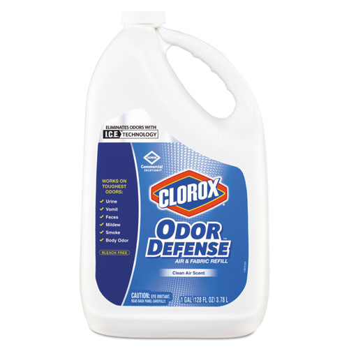 Clorox® Commercial Solutions Odor Defense Air/Fabric Spray, Clean Air Scent,1gal Bottle