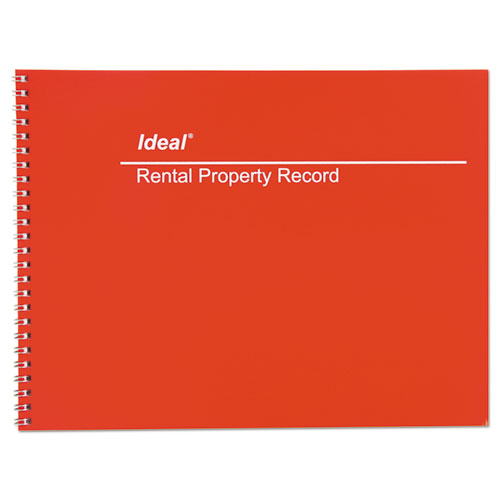 Rental Property Record Book, 8 1/2 x 11, 60-Page Wirebound Book | by Plexsupply