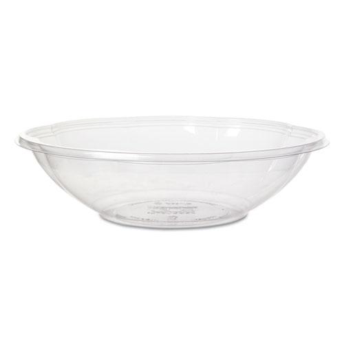 "Salad Bowls with Lids, Clear, 64 oz, 9.5"" Dia, 150/Carton"